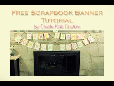 Easy Paper Banner Tutorial