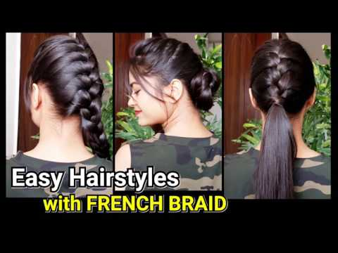 Everyday Quick Easy Hairstyles with French Braid