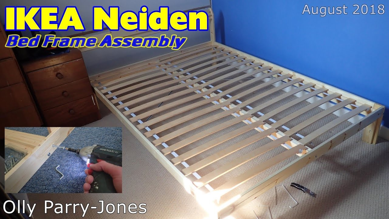 Ikea Neiden Bed Frame Assembly Youtube