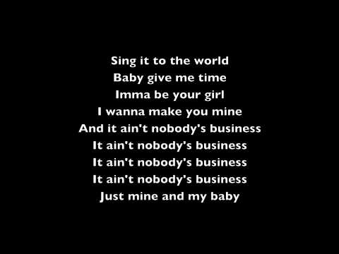Rihanna ft Chris Brown Nobody's Business Lyric Video