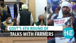 Centre holds 4th round of talks with farmers as protest enters 8th day