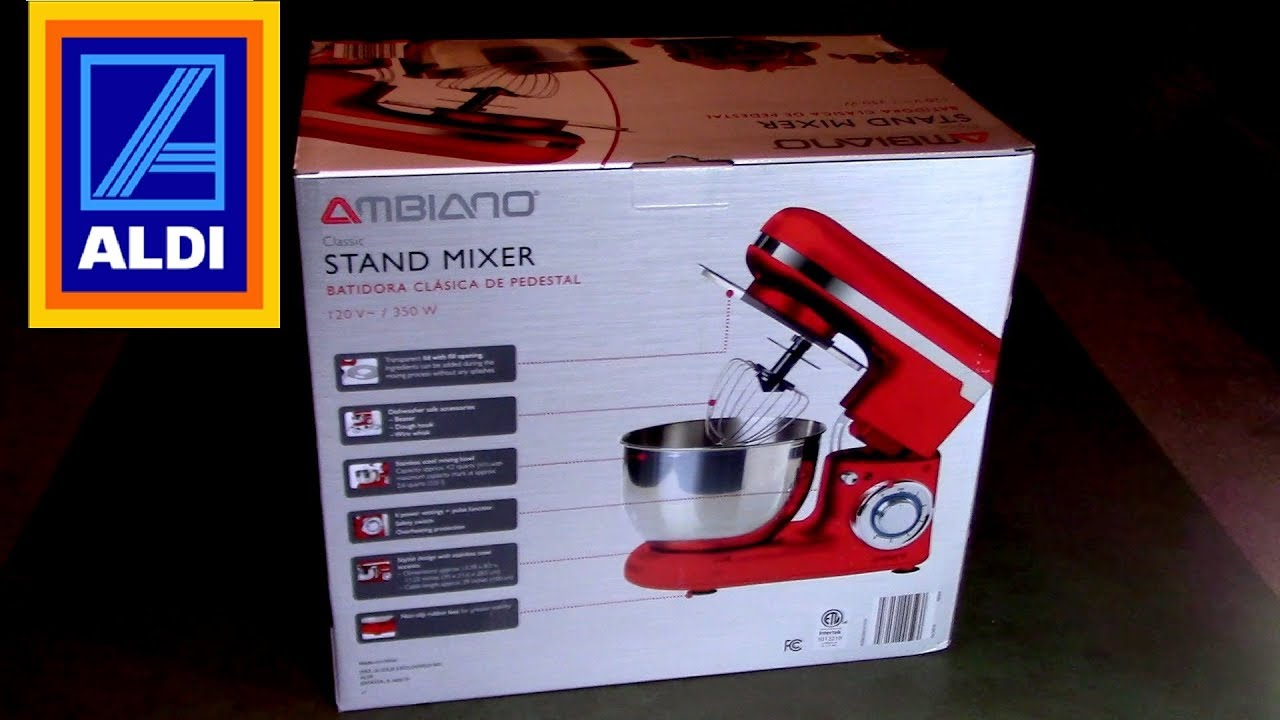Ambiano Aldi Stand Mixer Unboxing And Review Youtube