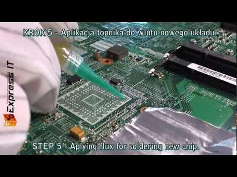HP Pavilion DV6000/9000 wymiana, nie reballing BGA - nVidia MCP67M-A2.