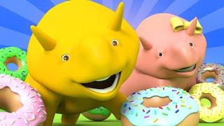 Dzień Pączka - Robimy Pączusie! - ucz się z Dino dinozaurem 👶 Bajki Edukacyjne dla Dzieci