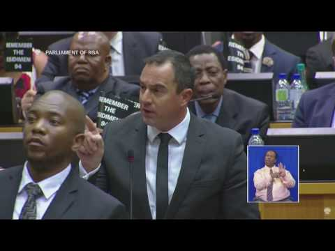 """F#ck you!"" - Chaos in Parliament as SONA 2017 descends into a screaming match."