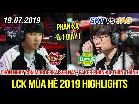 [LCK 2019] SKT vs JAG Game 2 Highlights   Faker phản xạ thần thánh, chôn ngay con Morderkaiser này