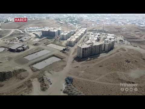 Hakkari Yüksekova'daki toplu konutlar havadan görüntülendi