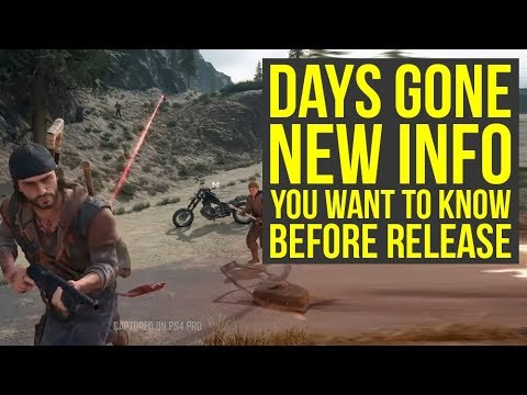 Days Gone Gameplay - File Size, Review Embargo, Secrets In New Footage & More! (Days Gone PS4) thumbnail