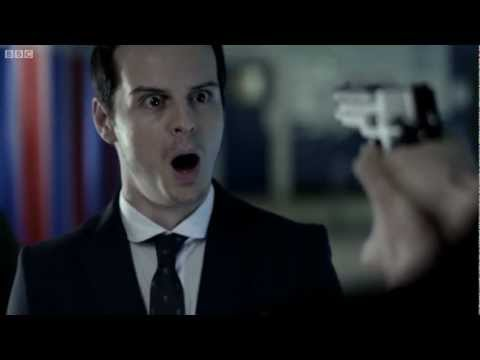 Confronting Moriarty  Sherlock  BBC