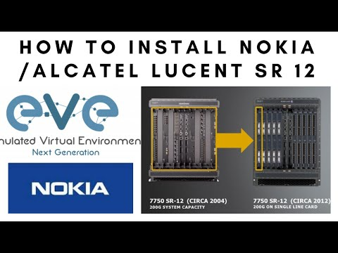 How to install Nokia alcatel router 7750 SR12