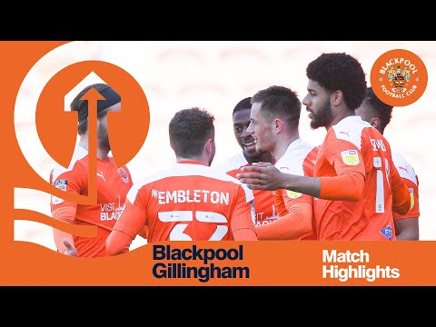 Blackpool Gillingham Goals And Highlights