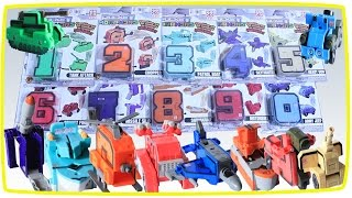 Learn Numbers and Colors Vehicle Military Cars Transformer Toys For Kids