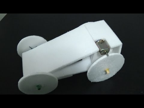 How To Make Mini Electric Car - Homemade Mini Car - Powered Car