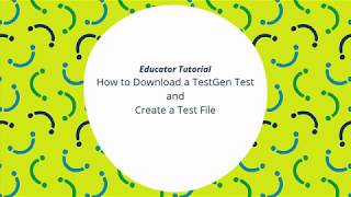 How to download my Pearson TestGen test files and create a test