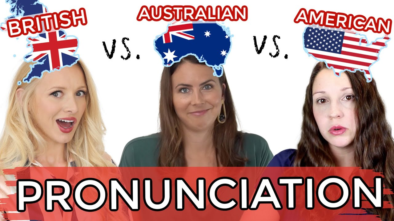 1 LANGUAGE, 3 ACCENTS! UK vs. USA vs. AUS English Pronunciation!