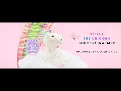 Scentsy July 2018 Warmer Scent Of The Month Stella Unicorn