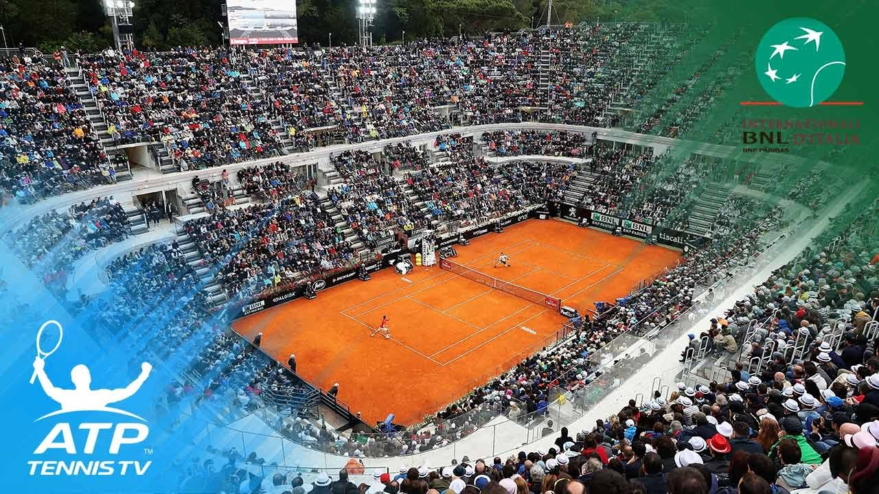 2017 Rome Open Atp World Tour Stars Practice Court Youtube