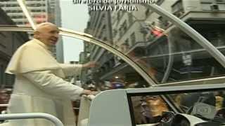 Brasil-  Papa Francisco em  Rio de Janeiro   Registro Histórico 1° Viagem