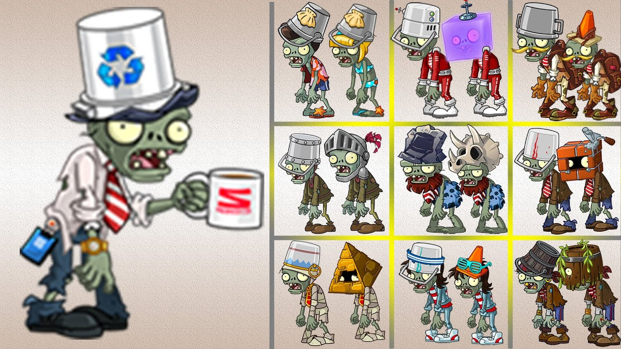 PVZ 2 – V8.2.1 | Zcorp Armor Zombie (New Zombie) Vs All Armor Zombies