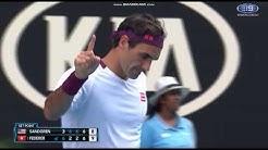 Federer vs Sandgren Tiebreak Australian Open 2020
