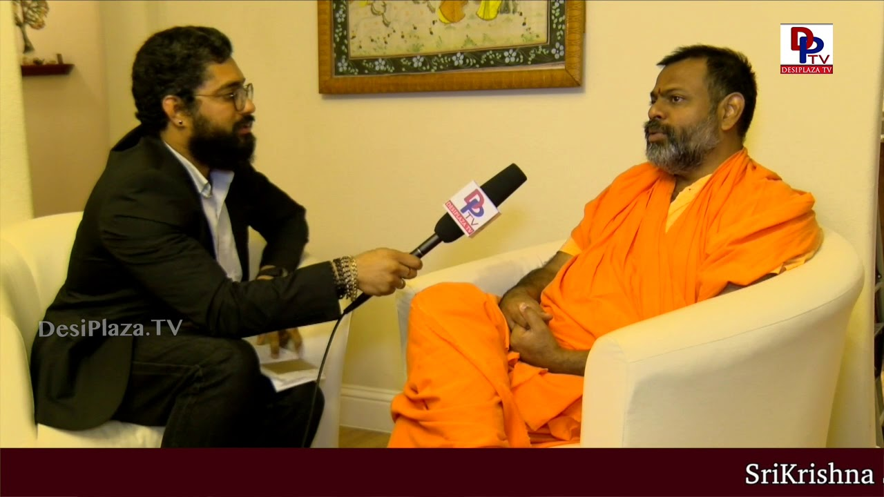 Swami Paripoornananda Saraswathi Exclusive Interview on DesiplazaTV with Madhav in Dallas,USA | DPTV