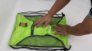 NAVO foldable leight weight drawstring backpack folding drawstring gym bag