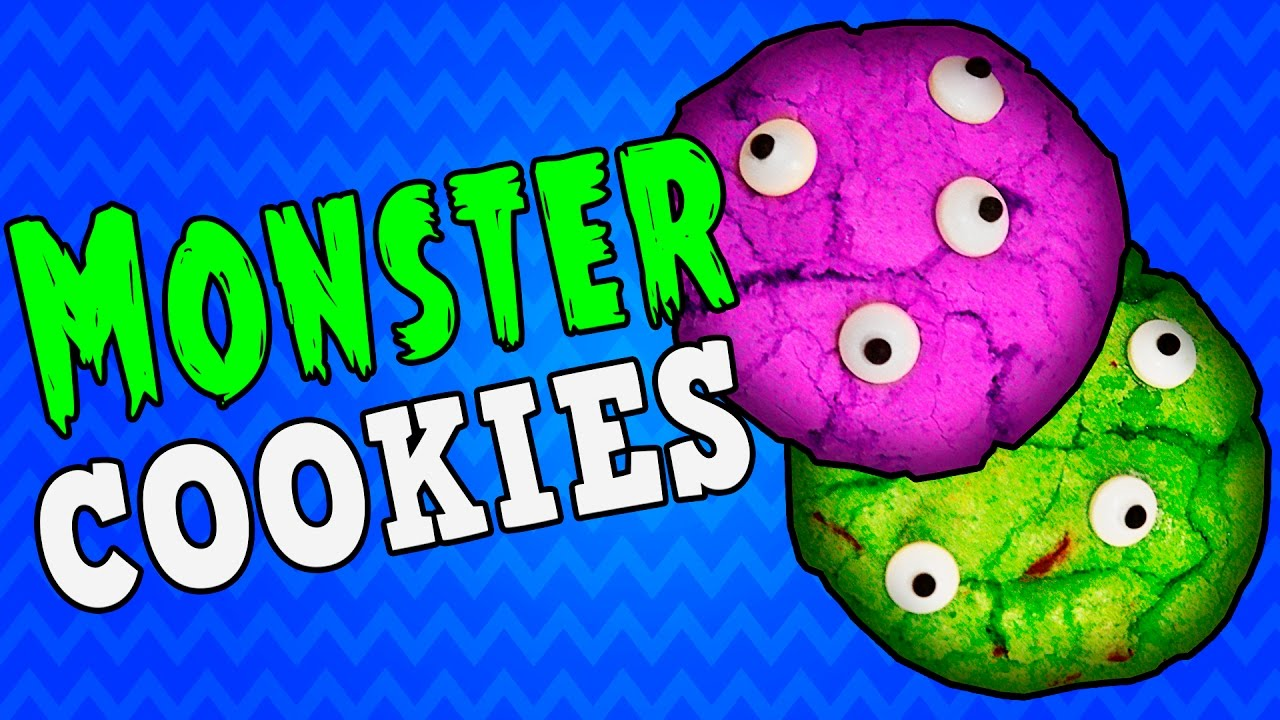 How To Make Monster Cookies Runnys Halloween Recipes For Kids