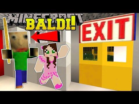 Minecraft: ESCAPE BALDI'S SCHOOL!!! (BALDI'S BASICS!) Mini-Game