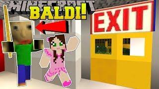 Minecraft: ESCAPE BALDI'S SCHOOL!!! (BALDI'S BASICS!) Mini-Game