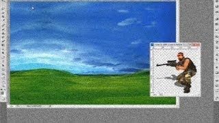 Как наложить одну картинку на другую в фотошопе (PhotoShop)
