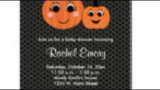 Autumn/Halloween Baby Shower Invitations