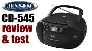 Jensen CD-545 AM/FM/CD/cassette portable stereo review & test