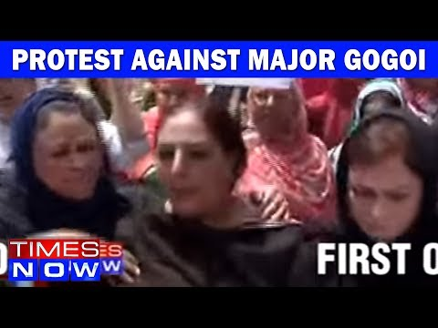 Omar Abdullah's Party Stages Protest Against Major Gogoi