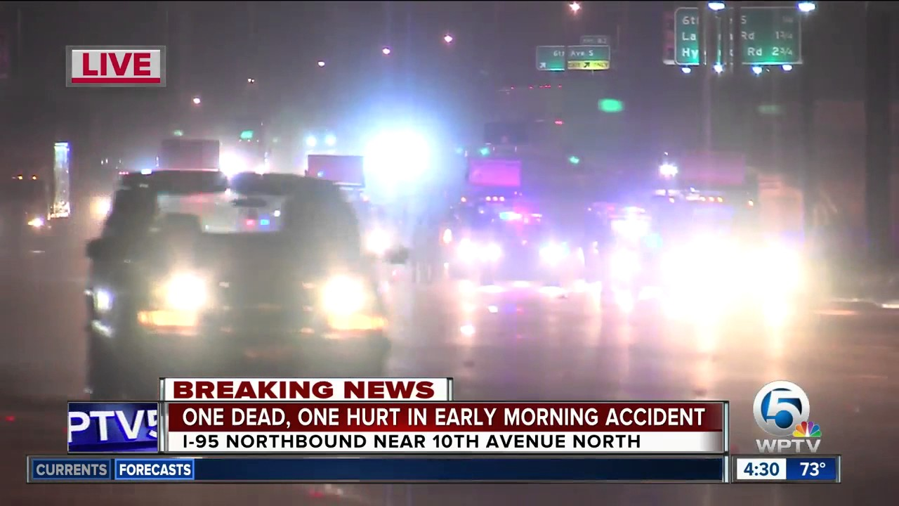 I-95 crash in Lake Worth kills 1 person, injures another