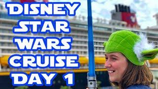 Boarding the Disney Fantasy Disney Cruise Day 1 Disney Star Wars Cruise