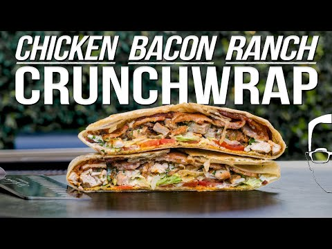 THE BEST CRUNCHWRAP RECIPE – CHICKEN BACON RANCH! | SAM THE COOKING GUY 4K