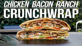 THE BEST CRUNCHWRAP RECIPE - CHICKEN BACON RANCH! | SAM THE COOKING GUY 4K