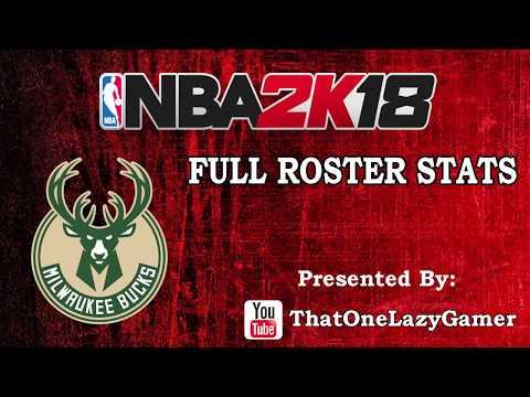 """NBA 2K18 """"Milwaukee Bucks"""" Full Roster stats"""