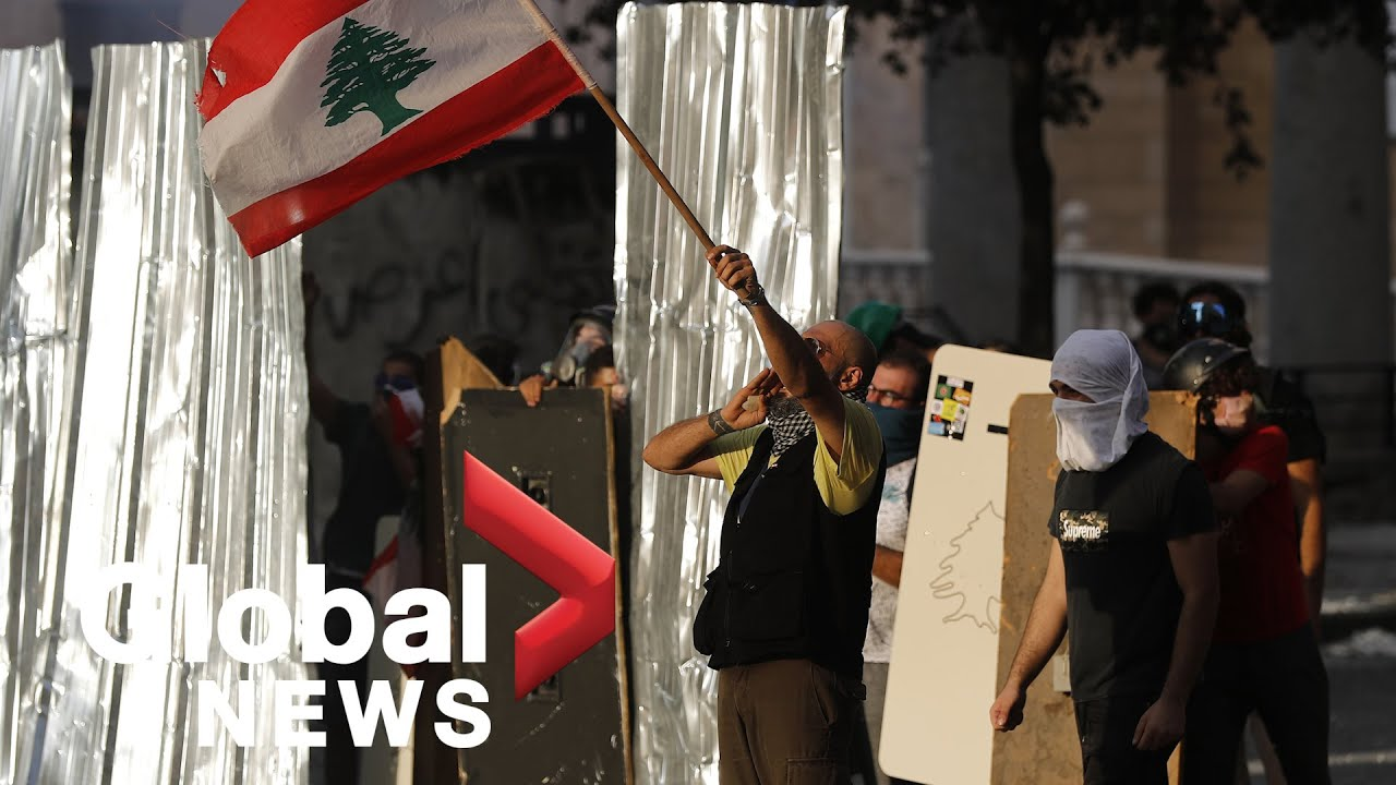 Beirut explosion: Protesters clash with security forces in Lebanon following deadly blast | LIVE