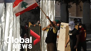 Beirut explosion: Protesters clash with security forces in Lebanon following deadly blast | FULL