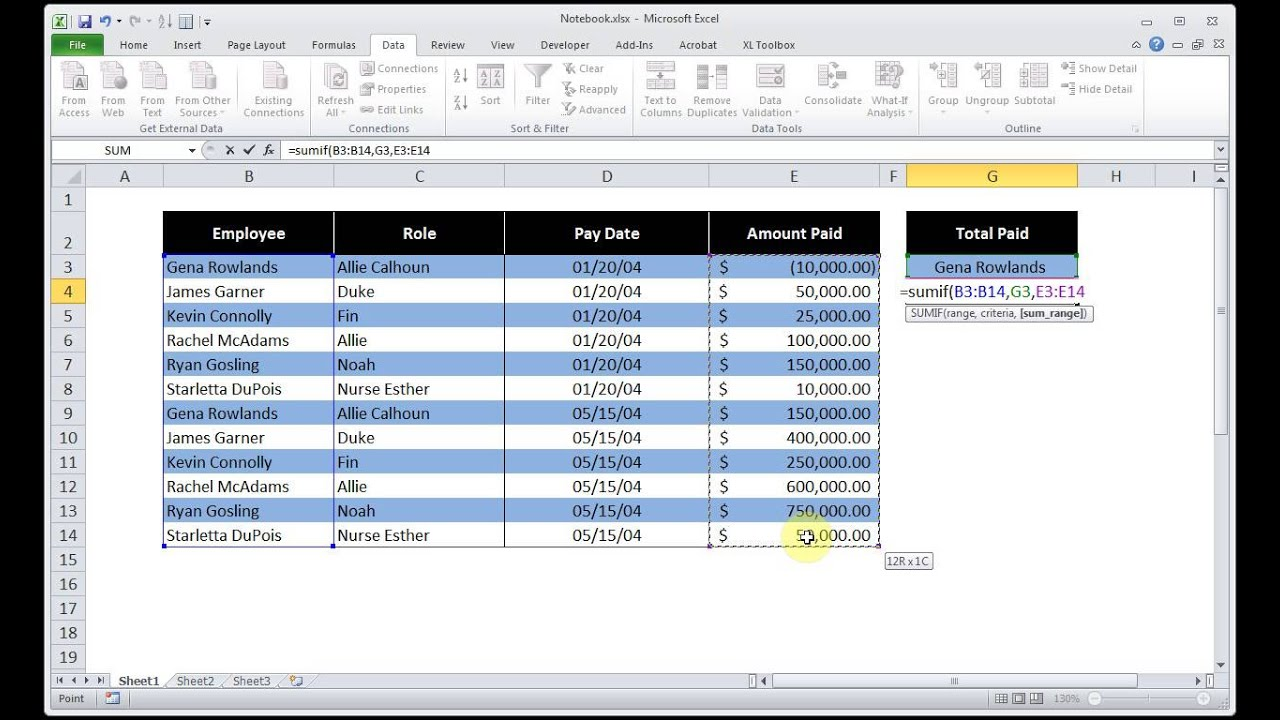 microsoft excel how to find how many hits