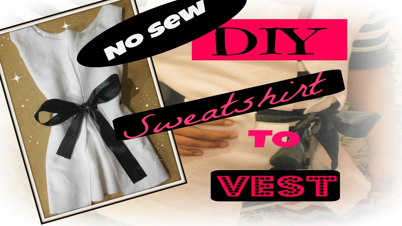 Diy Fashion Upcycling Clothing Easy No Sew Youtube