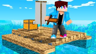 Ik Speel RAFT In MINECRAFT! (Survival)