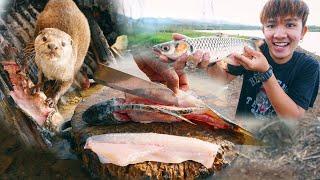 ตั้งแคมป์ตกปลา กับดักสัตว์ ทำอาหารพื้นบ้าน!!!!!