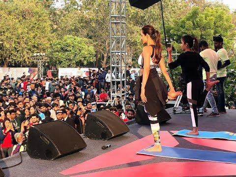 Malaika Arora Yoga | India's Biggest Fitness Festival Reebok UnRest At JLN Stadium Delhi