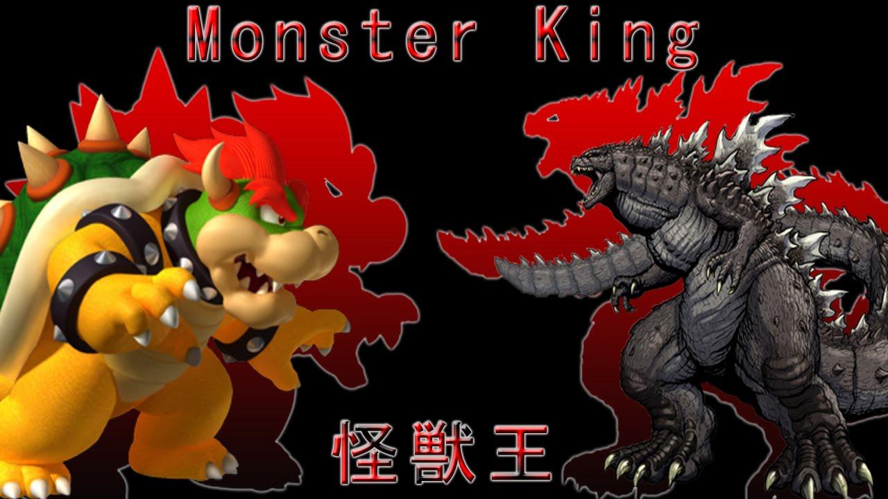 godzilla x mario luigi monster king godzilla main theme dark