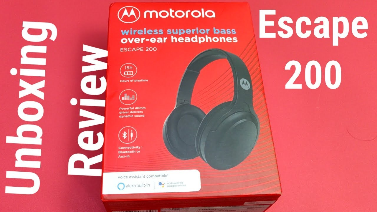 Motorola Escape 200 Bluetooth Headphones With Alexa Unboxing Review Hindi Youtube