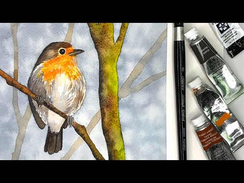 How to Paint Watercolor Birds for Beginners - Using a Reference Photo for Watercolor Painting