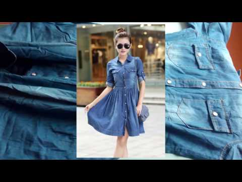 Женское летнее джинсовое платье из Китая.