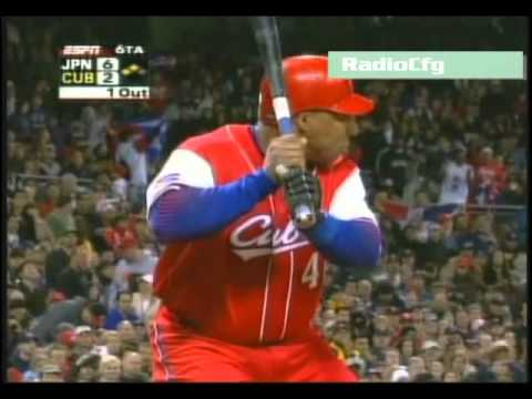 Jugadas de Osmany Urrutia. Beisbol, Cuba
